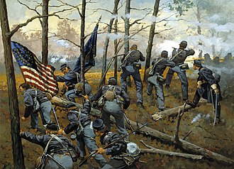 9th Illinois Volunteer Infantry Regiment (3 Years) - Image: The 9th Illinois at Shiloh