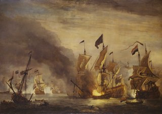 The Burning of the Royal James at the Battle of Solebay, 28 May 1672