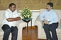 The Chief Minister of Karnataka, Shri H.D. Kumaaraswaamy meeting with the Union Minister for Communications and Information Technology, Shri Dayanidhi Maran, in New Delhi on May 24, 2006.jpg