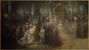 The Coronation of King Gustav III of Sweden. Uncompleted (Carl Gustav Pilo) - Nationalmuseum - 18007.tif