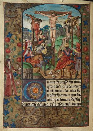 The Crucifixion Longinus pierces Christ's side