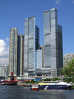 The Cullinan twin towers in Hong Kong