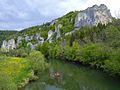 """The Danube near Gutenstein, between Sigmaringen und Beuron. Naturpark Oberes Donautal, """"Der Schwäbische Grand Canyon"""", in Baden-Württemberg, Germany - panoramio.jpg"""