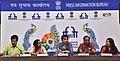 The Director Ajay Kurane of the film BALUTA, Director Lipika Singh Darai of the film THE WATERFALL, Director Rima Das of the Assemese film VILLAGE ROCKSTARS and Director Anik Dutta of the Bengali film MEGHNADBADH RAHASYA.jpg
