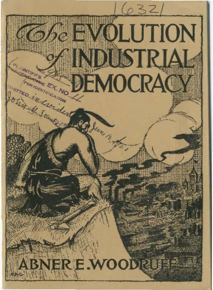 The Evolution of Industrial Democracy (Woodruff) cover