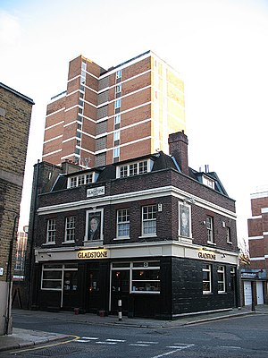 Lant Street - Image: The Gladstone Arms, Lant Street, Southwark (1) geograph.org.uk 1750071