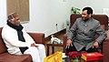 The Home Minister of Madhya Pradesh, Shri Babu Lal Gaur calling on the Union Minister for Consumer Affairs, Food and Public Distribution, Shri Ram Vilas Paswan, in New Delhi on December 22, 2014.jpg
