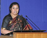 The Minister of State for Commerce & Industry, Dr. (Smt.) D. Purandeswari addressing at the Golden Jubilee Celebrations of Indian Institute of Foreign Trade (IIFT), in New Delhi on May 02, 2013.jpg