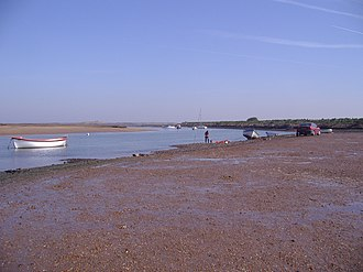 River Burn, Norfolk - The Mouth of the river at Overy Creek