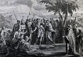 The Phillip Medhurst Picture Torah 306. Waters of the Nile turned into blood. Exodus cap 7 vv 20-21. Mortier.jpg