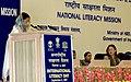 The President, Smt. Pratibha Devisingh Patil addressing at the National Celebration of International Literacy Day, in New Delhi on September 08, 2007.jpg
