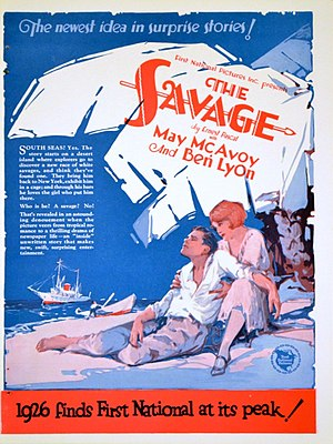 The Savage (1926 film) - Trade ad for the film