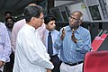 The Union Minister for Civil Aviation, Shri Ajit Singh interacting with the senior officials of Air Traffic Complex, at Chennai International airport on July 21, 2012.jpg