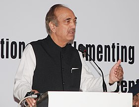 "The Union Minister for Health and Family Welfare, Shri Ghulam Nabi Azad addressing at the ""Consultation on implementing effective school health programs in India"", in New Delhi on September 24, 2012.jpg"