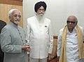 The Vice President, Shri Mohd. Hamid Ansari with the Governor of Tamil Nadu, Shri Surjit Singh Barnala and the Chief Minister of Tamil Nadu, Dr. Kalaignar M. Karunanidhi.jpg