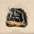 The dance of death; the dreary old king of Death. Colour lit Wellcome V0042022.jpg