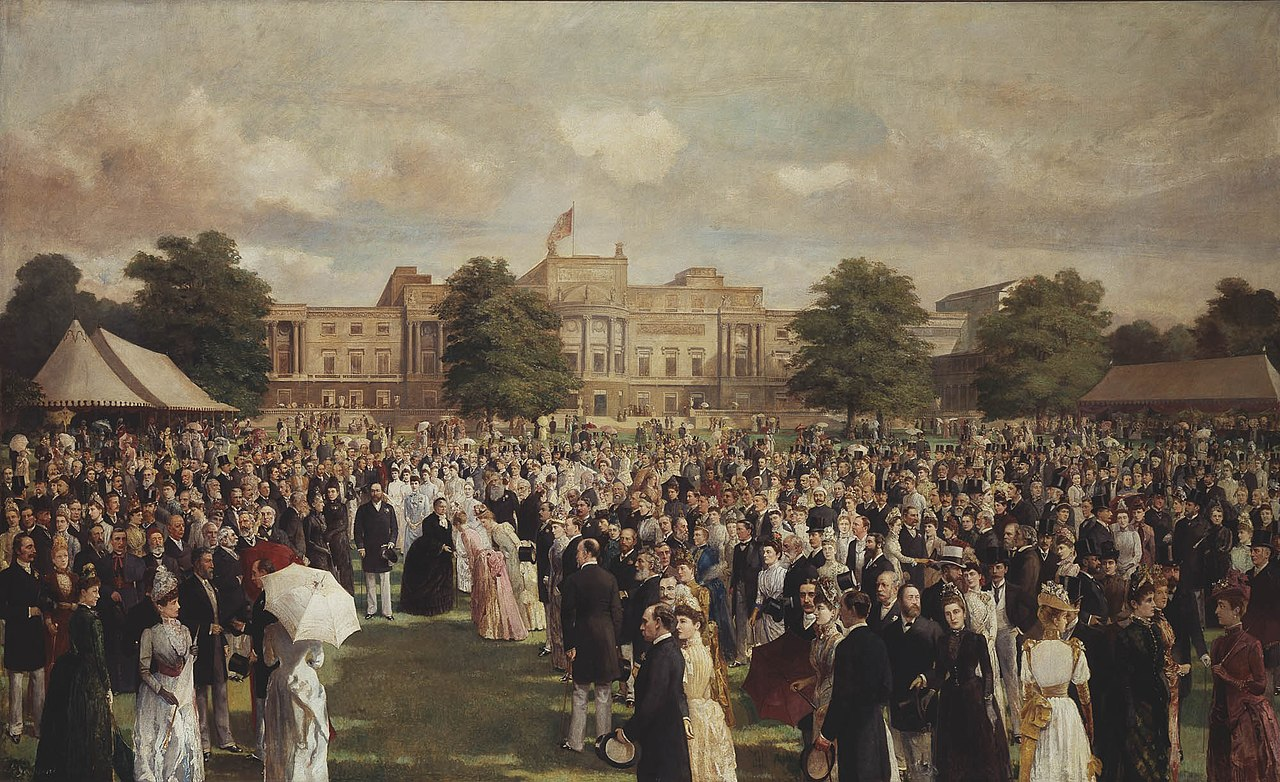 Прием в саду в Букингемском дворце по случаю золотого юбилея королевы Виктории, 1887.jpg