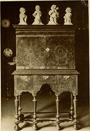 William and Mary style - A William and Mary style cabinet with jappanning.