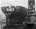 The stern of 'Naess Crusader' nears completion (24768908515).jpg
