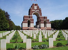 The war cemetery in Thiepval
