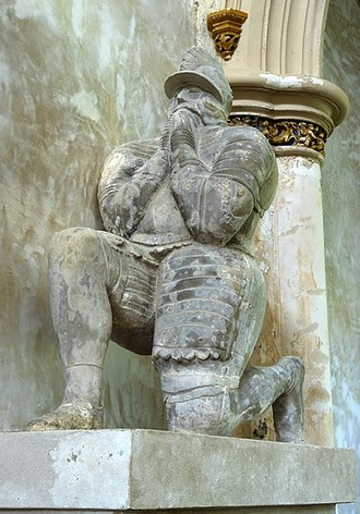 Walter Erle (died 1581) - Effigy of Thomas Erle (d.1597) of Charborough. St Mary's Church, Morden, Dorset