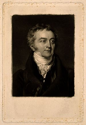 Thomas Young. Mezzotint by G. R. Ward, 1855, after Sir T. La Wellcome V0006401.jpg