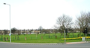 Thornbury, West Yorkshire - Image: Thornbury Roundabout, Bradford geograph.org.uk 383014