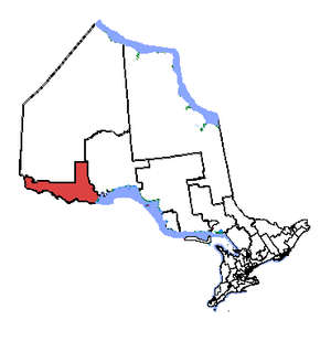Thunder Bay—Rainy River - Thunder Bay—Rainy River in relation to the other area ridings
