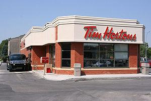 Tim Hortons restaurant. Calgary, Alberta, Canada.