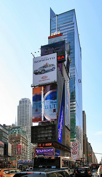 One Times Square - One Times Square in 2010