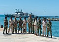 Timor Leste and US military personnel at Hera Naval Base in 2018.jpg