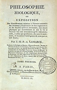 "Title Page of Lamarck, ""Philosophie Zoologique...,"" Wellcome L0033032.jpg"