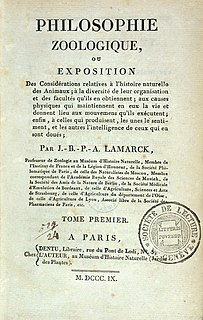 <i>Philosophie zoologique</i> Book by Lamarck