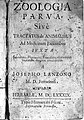 Title page from Lanzoni, Zoologia parva, 1689 Wellcome L0015762.jpg