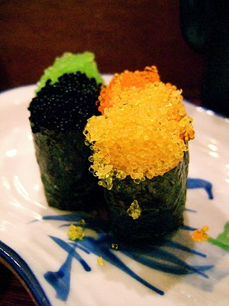 Tobiko - Tobiko in varying colors, served as sushi