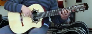Requinto guitar - Someone playing a requinto guitar.