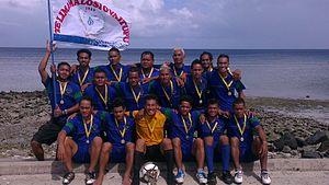 Football in Tuvalu - Tofaga A winners Tuvalu Games 2012