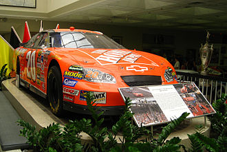 Tony Stewart - Stewart's 2005 Allstate 400 at the Brickyard winning car on display at the Indianapolis Motor Speedway museum.
