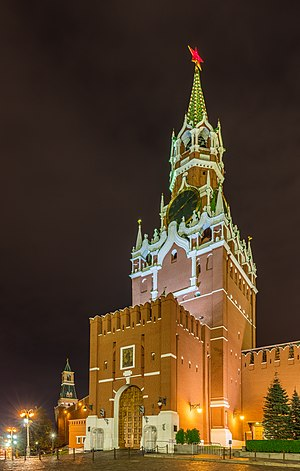 Spasskaya Tower, Kremlin, Moscow, Russia.