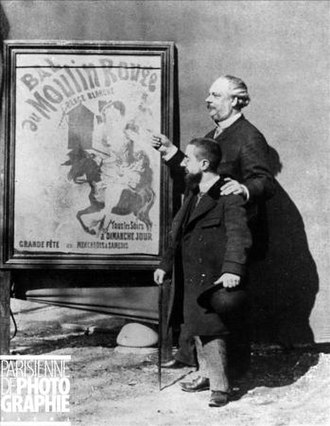 Moulin Rouge - Toulouse-Lautrec and Mr Tremolada, Zidler's assistant and Moulin-Rouge manager, Paris, 1892.