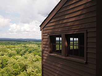 Tower Hill State Park - The shot tower overlooking the Wisconsin River Valley