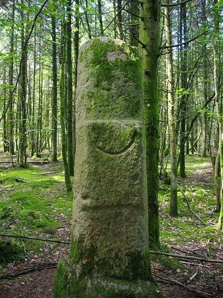 Menhir known as Babouine, Trédion (Morbihan, France)