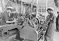 Trainee mechanical engineers at work in the Royal Indian Navy's shore establishment, HMIS Talwar, near Bombay, 1941.jpg