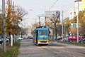 Tram in Sofia near Russian monument 003.jpg