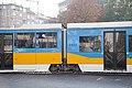 Tram in Sofia near Russian monument 078.jpg