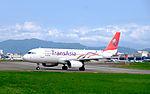 TransAsia Airways Airbus A320-233 B-22318 Departing from Taipei Songshan Airport 20151003d.jpg