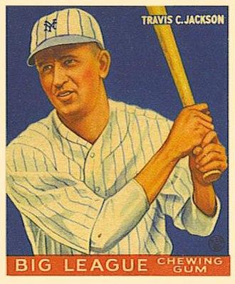 Travis Jackson - Jackson's 1933 Goudey baseball card