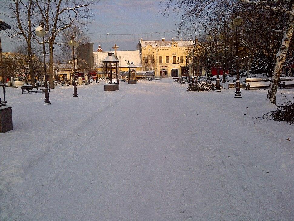 Trg Vršac Zima 2017
