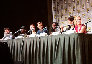Rutina Wesley - Wesley is at the International Comic-Con San Diego with Ryan Kwanten, Deborah Ann Woll, Anna Paquin, Stephen Moyer, and Nelsan Ellis on this TV shows of True Blood in 2011.