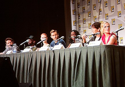 Wesley is at the International Comic-Con San Diego with Ryan Kwanten, Deborah Ann Woll, Anna Paquin, Stephen Moyer, and Nelsan Ellis on this TV shows of True Blood in 2011. True Blood - 2011 International Comic-Con.jpg